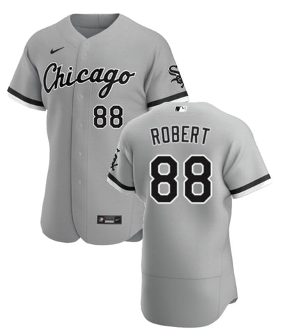 Men's Chicago White Sox Luis Robert Nike Grey Road Authentic Player Jersey