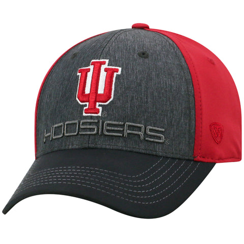 Mens Indiana Hoosiers Reach One Fit Flex Fit Hat By Top Of The World