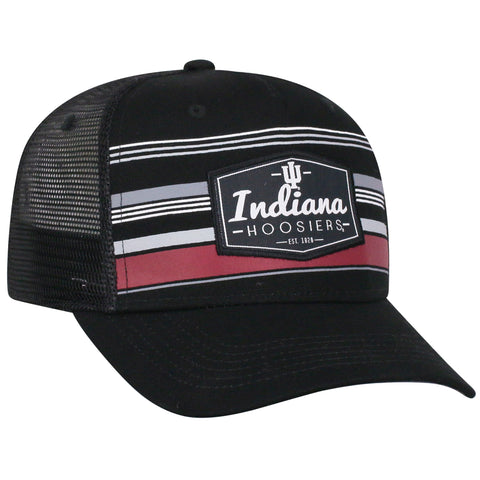 Mens Indiana Hoosiers Route Adjustable Hat By Top Of The World