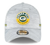 Green Bay Packers Grey NFL20 New Era 39THIRTY Official Sideline Flex Hat