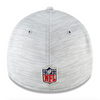 New Orleans Saints Grey NFL20 New Era 39THIRTY Official Sideline Flex Hat