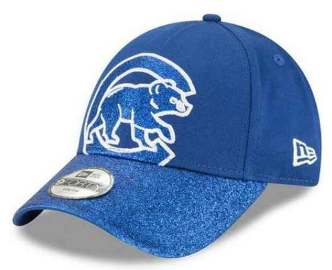 Girls Chicago Cubs Blue Shimmer Shine 2 Adjustable 9TWENTY Hat By New Era