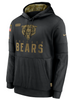 Men's Chicago Bears Nike Black 2020 Salute to Service Sideline Performance Pullover Hoodie