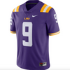 Men's Nike #9 Purple LSU Tigers Limited Jersey