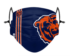 Adult Chicago Bears FOCO On-Field Adjustable Face Mask