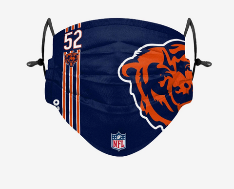 Adult Chicago Bears Khalil Mack FOCO On-Field Adjustable Face Mask