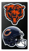 Chicago Bears 4X7 Dual Logo All Surface Decal By Wincraft