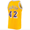 Men's Los Angeles Lakers James Worthy Mitchell & Ness Gold 1984-85 Hardwood Classics Swingman Jersey