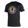 Men's Chicago Blackhawks adidas Black Reverse Retro Creator T-Shirt