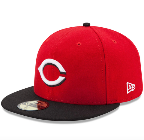 Men's Cincinnati Reds New Era Red/Black Road Authentic Collection On-Field 59FIFTY Fitted Hat