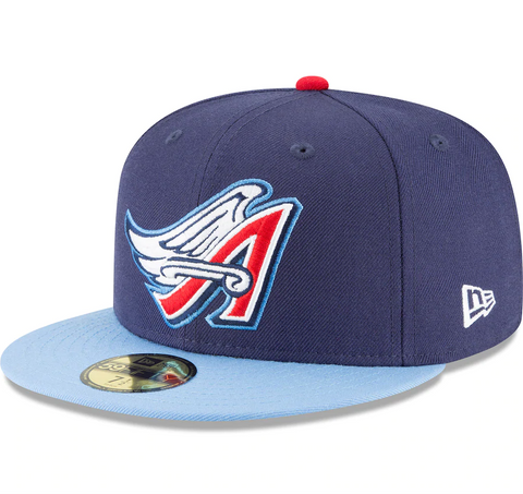 Men's California Angels New Era Navy Cooperstown Collection Wool 59FIFTY Fitted Hat