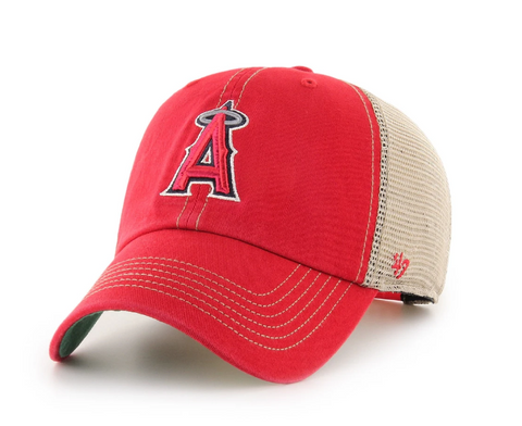 '47 Brand Los Angeles Angels Red/Natural Trawler Clean Up Adjustable Hat