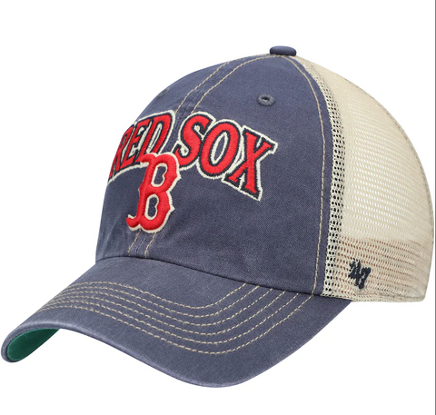 '47 Brand Boston Red Sox Navy/Natural Tuscaloosa Clean Up Adjustable Hat