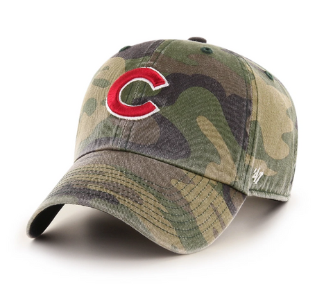'47 Brand Chicago Cubs MLB Camo Clean Up Strapback Cap