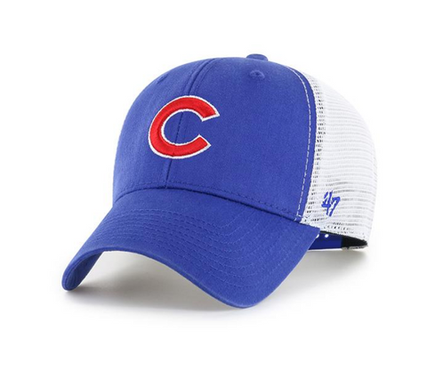 '47 Brand Chicago Cubs Primary Logo Flagship Wash Adjustable Mesh Back Hat