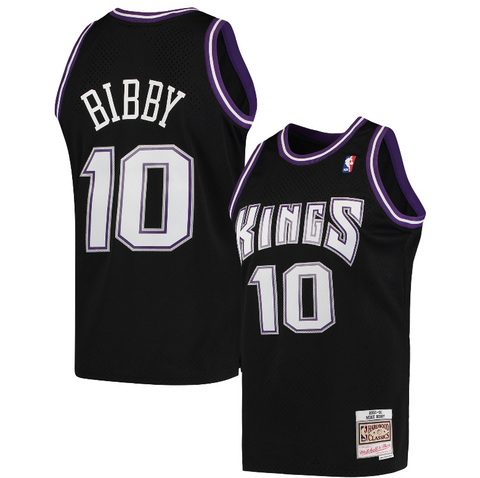 Mike Bibby Sacramento Kings Mitchell & Ness Hardwood Classics 2001-02 Swingman Jersey - Black
