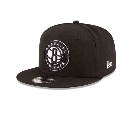 Men's Brooklyn Nets New Era Black Official Team Color 9FIFTY Adjustable Snapback Hat