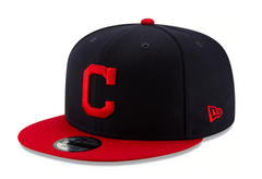 Men's Cleveland Indians New Era Navy/Red Team Color 9FIFTY Snapback Hat