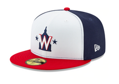 Men's Washington Nationals New Era White Alternate 2 Authentic Collection On-Field 59FIFTY Fitted Hat