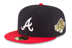 Atlanta Braves New Era 1995 World Series Wool 59FIFTY Fitted Hat - Navy