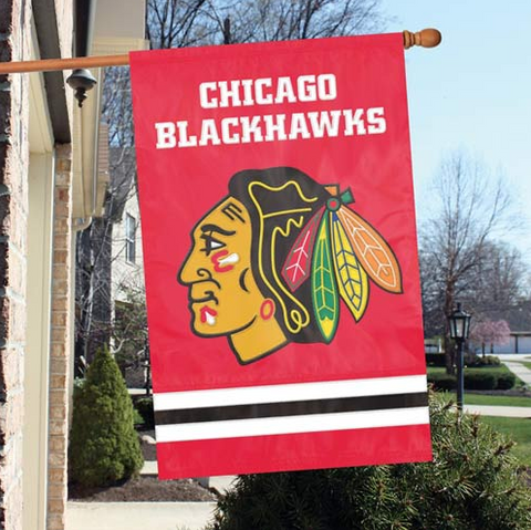 Chicago Blackhawks Premium Two Sided Oversized 44 X 28 FLAG