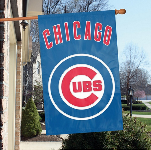 CHICAGO CUBS Premium Two Sided Oversized 44 X 28 FLAG