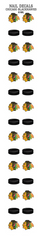 Chicago Blackhawks Nail Decal - Pro Jersey Sports
