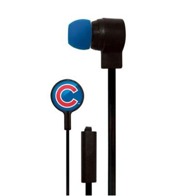 Chicago Cubs Stereo Earbuds With Microphone
