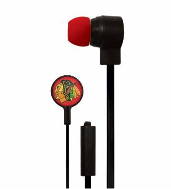 Chicago Blackhawks Stereo Earbuds With Microphone - Pro Jersey Sports