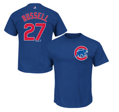 Addison Russell Chicago Cubs #27 Name And Number Tee By Majestic - Pro Jersey Sports - 1