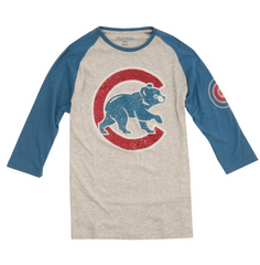 Chicago Cubs Alliance 3/4 Sleeve Tee By Wright & Ditson - Pro Jersey Sports