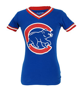 Chicago Cubs Ladies Eephus V-Neck T-Shirt - Pro Jersey Sports