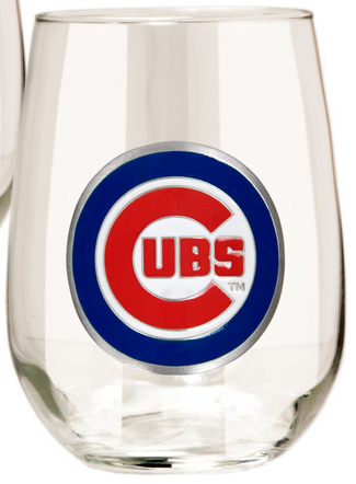 Chicago Cubs Stemless Wine Glass - Pro Jersey Sports