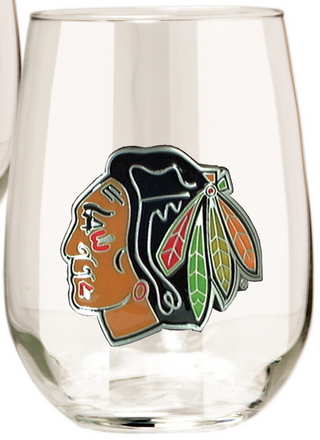 Chicago Blackhawks Stemless Wine Glass - Pro Jersey Sports