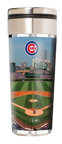 Chicago Cubs 22 Oz. Travel Tumbler w/ Metallic Graphics by Great American Product