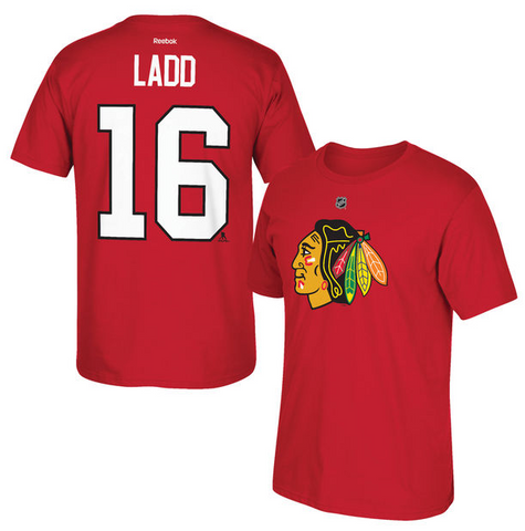 Andrew Ladd Chicago Blackhawks Name And Number Tee By Reebok