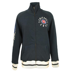 Chicago Cubs Womens Biowashed Full Zip Fleece By Soft As A Grape - Pro Jersey Sports