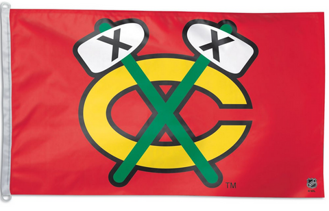 Chicago Blackhawks TOMAHAWK Flag - Team 3' X 5' - Pro Jersey Sports