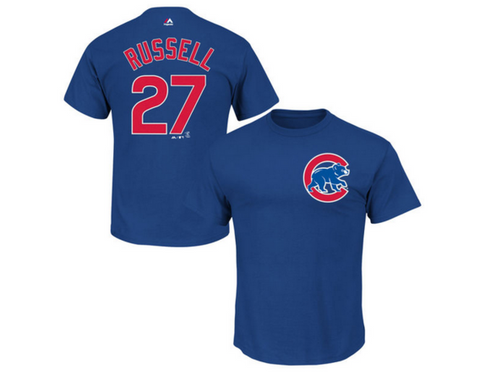 Addison Russell Chicago Cubs Youth Player Tee By Majestic - Pro Jersey Sports