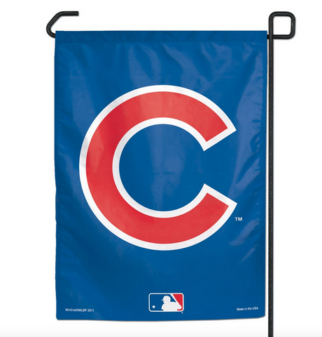 "Chicago Cubs 11X15 ""C"" Garden Flag-Win - Pro Jersey Sports"