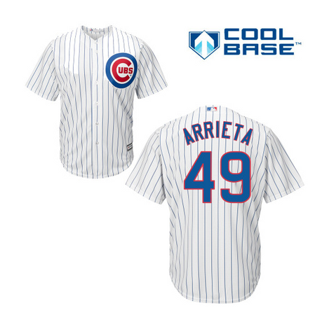 Chicago Cubs Jake Arrieta Youth Replica Home Jersey by Majestic Athletic - Pro Jersey Sports