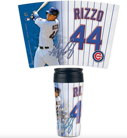 Chicago Cubs Travel Mug Contour 16 oz. Anthony Rizzo - Pro Jersey Sports