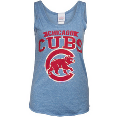 Chicago Cubs Womens Tri Blend Tank By 5th And Ocean - Pro Jersey Sports
