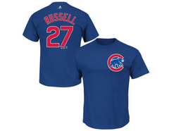 Addison Russell Chicago Cubs Child Player Tee By Majestic - Pro Jersey Sports