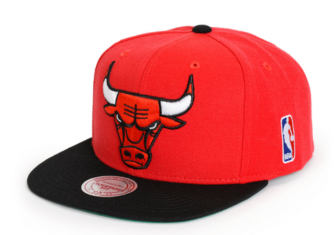 Chicago Bulls Mitchell and Ness 2 Tone NBA XL Logo Snapback Cap