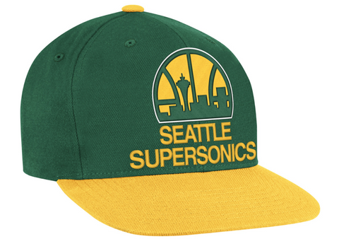 Seattle Supersonics Mitchell and Ness NBA XL Logo Snapback Cap