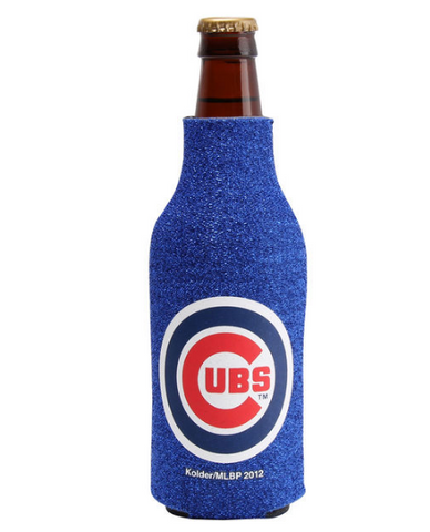 Chicago Cubs Glitter Bottle Coozy By Kolder
