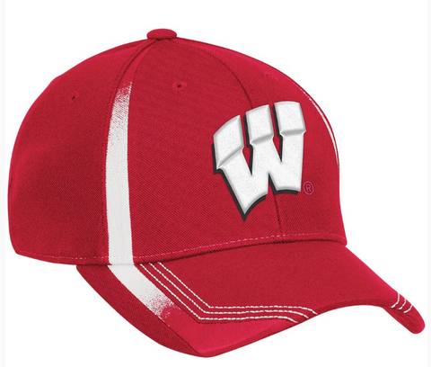 Wisconsin Badgers Adidas Coach's 14 Sideline Flex fit Hat