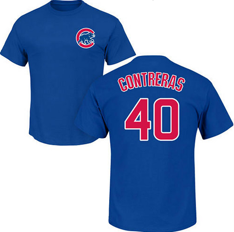 Chicago Cubs Willson Contreras Name and Number T-Shirt - Pro Jersey Sports
