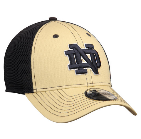 New Era Gold/Navy Notre Dame Fighting Irish Team Front Neo 39THIRTY Flex Hat